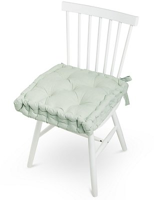 Quilted Chunky Seat Pad, GREEN, catlanding