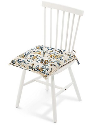 Ardingly Floral Seatpad, , catlanding