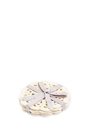 4 Pack Round Lace Marigold Coaster , , catlanding