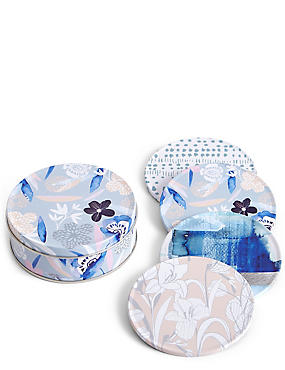 4 Pack Coasters & Tin, , catlanding