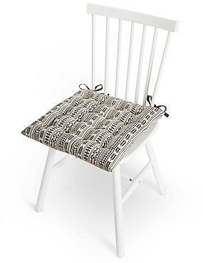 Tribal Vertical Print Seat Pad, , catlanding