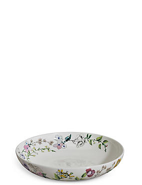Assiette à pâtes à motif fleuri, , catlanding