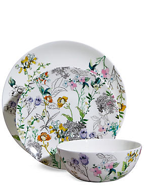 12 Piece Spring Blooms Dinner Set, , catlanding