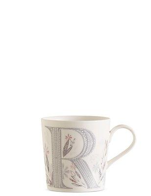 Floral Alphabet R Mug, , catlanding