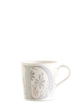 Floral Alphabet D Mug, , catlanding