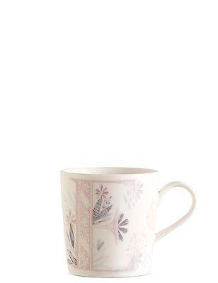 Mug avec lettre «E» et motif fleuri, , catlanding
