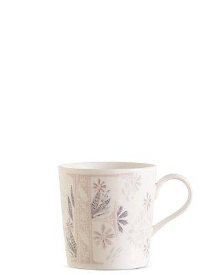 Mug avec lettre «F» et motif fleuri, , catlanding