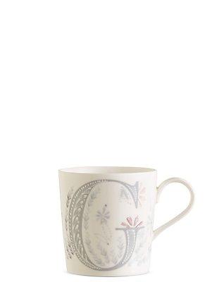 Floral Alphabet G Mug, , catlanding