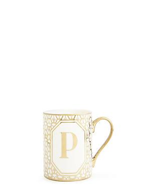 Alphabet P Mug, , catlanding
