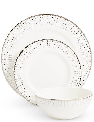 12 Piece Platinum Decorative Dinner Set, , catlanding