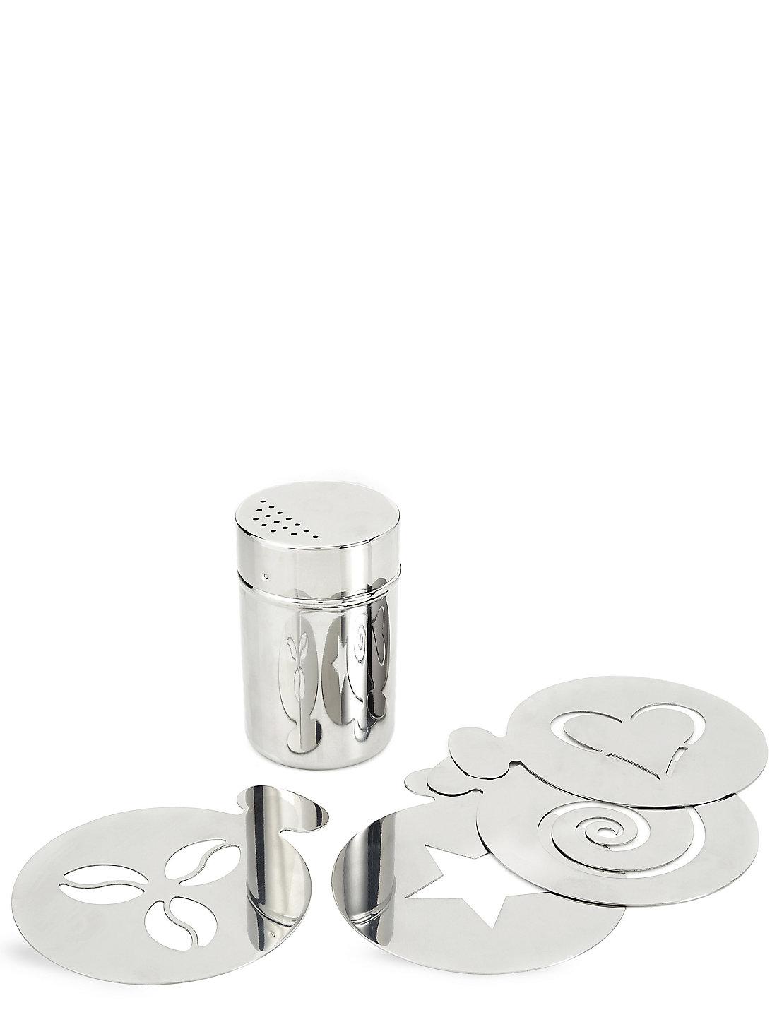 stainless steel shaker u0026 stencil gift set m u0026s