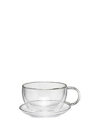 Double Walled Cup & Saucer Gift Set, , catlanding