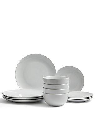 12 Piece White Box Dinner Set , , catlanding