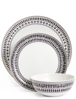12 Piece Savanna Dinner Set, , catlanding