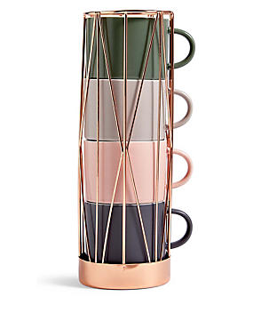 Copper Stacking Cups, , catlanding
