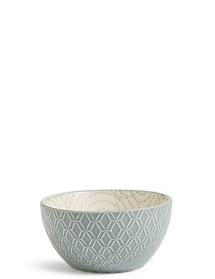 Small Texture & Pad Print Bowl, GREEN, catlanding