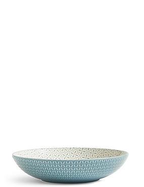 Shallow Texture & Pad Print Bowl, BLUE, catlanding