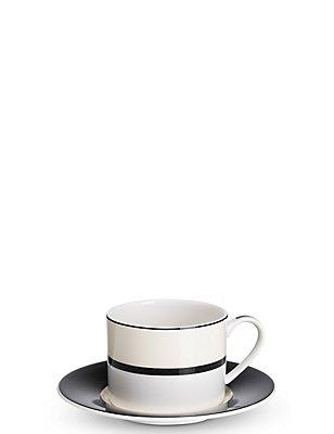 Manhattan - Juego de taza y platillo, MEZCLA DE TONOS NEGROS, catlanding