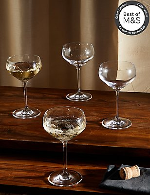 4 Pack Maxim Champagne Saucers, , catlanding
