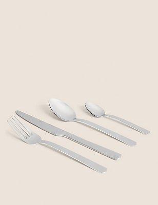 16 Piece Stainless Steel Cutlery Set, , catlanding