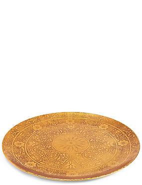 Plateau en métal à motif indien, , catlanding