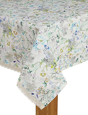 Spring Blooms Tablecloth, , catlanding