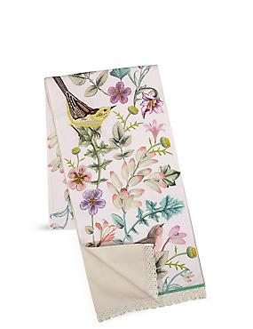 Spring Bird Embroidered Runner Tablecloth, , catlanding