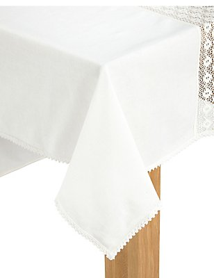 Lace Border Table Cloth, , catlanding