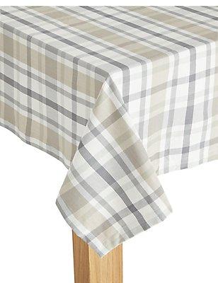 Check Woven Tablecloth, , catlanding