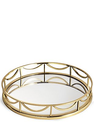 Decorative Round Mirror Tray, , catlanding
