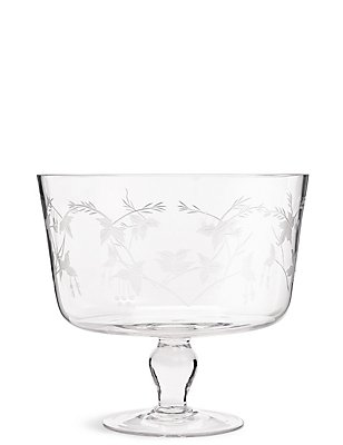 Botanical Etched Trifle Bowl, , catlanding