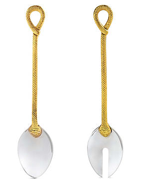 2 Pack Snake Handle Salad Servers , , catlanding