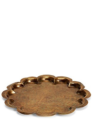 Scallop Metal Tray, , catlanding