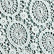 Pure Cotton Floral Lace Runner, DUCK EGG, swatch