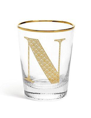 Alphabet N Glass, , catlanding