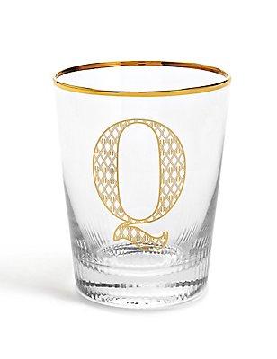 Alphabet Q Glass, , catlanding