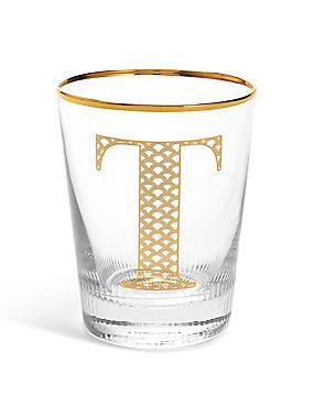 Alphabet T Glass, , catlanding