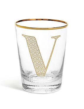 Alphabet V Glass, , catlanding