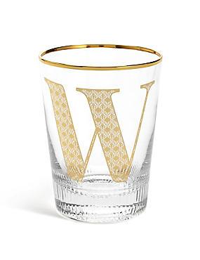 Alphabet W Glass, , catlanding