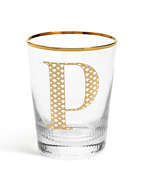 Alphabet P Glass, , catlanding