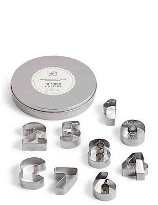 Numbers Icing Cutters in a Tin, , catlanding