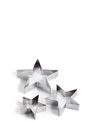 Set of 3 Star Cutters, , catlanding