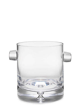 Soho Bubble Base Ice Bucket, CLEAR, catlanding