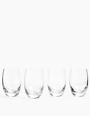 4 Barrel High Ball Glasses, CLEAR, catlanding
