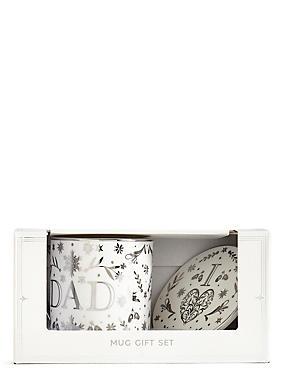 Dad Mug & Coaster Gift Set, , catlanding