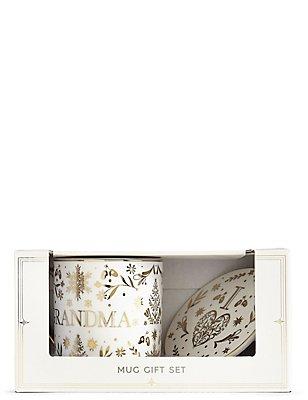Grandma Mug & Coaster Gift Set, , catlanding
