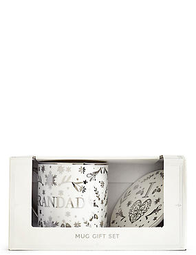 Grandad Mug & Coaster Gift Set, , catlanding