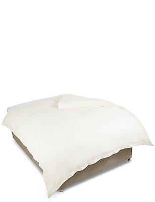 Pure Linen Duvet Cover, CREAM, catlanding