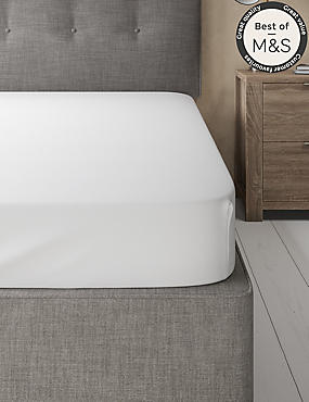 200 Thread Count Comfortably Cool Fitted Sheet, WHITE, catlanding
