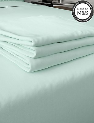 200 Thread Count Comfortably Cool Flat Sheet, DUCK EGG, catlanding